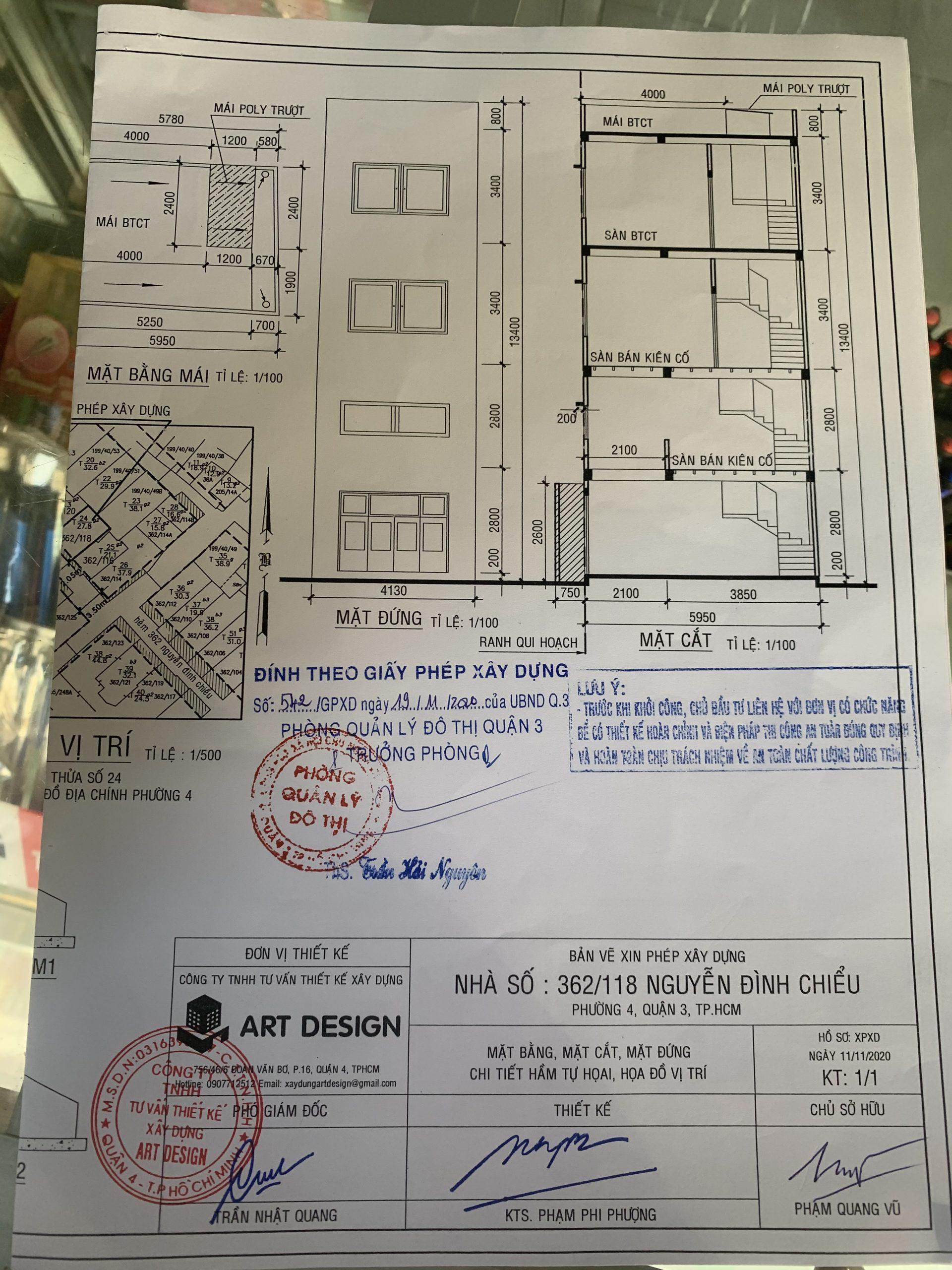 bản vẽ xin phép xây dựng quận 3